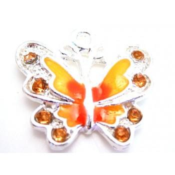 Sommerfugl i gul og orange farver
