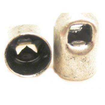 Enderør antiksølv 4mm - 2 stk