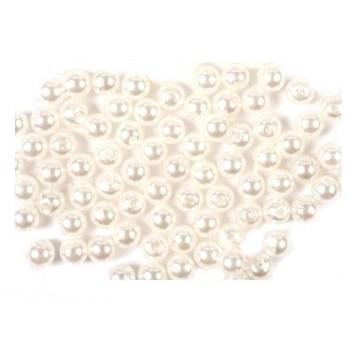 Voks perle 4 mm hvid - 10 stk