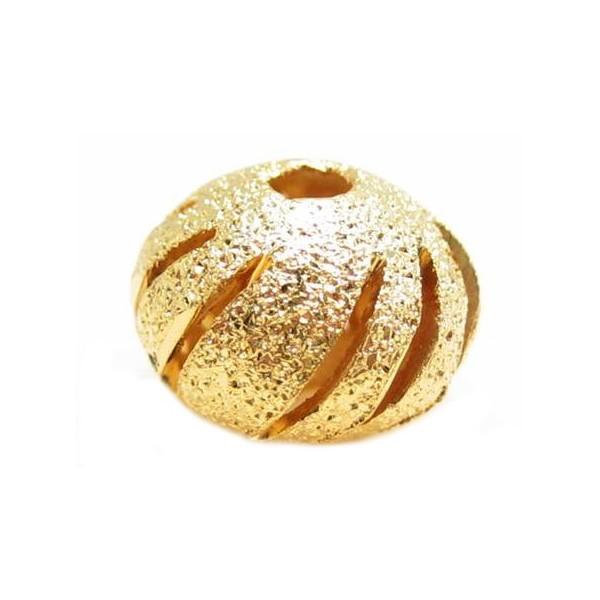 Guld stardust med hulmønster 10mm -2 stk