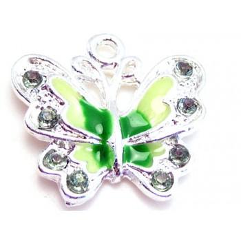 Sommerfugl i grønne farver 22 mm