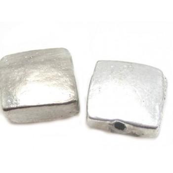 Smart firkantet metal perle 14 mm