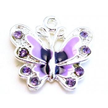 Sommerfugl lilla farver 35 mm