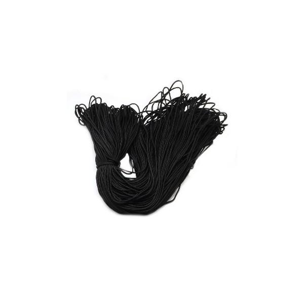 Faldskærmsline 2,5 mm sort  - 1 m løbende