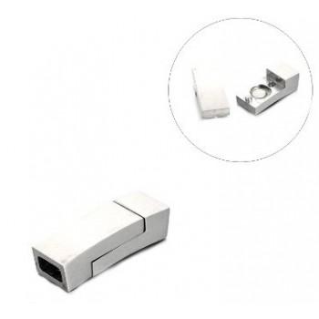 Super lækker  blank stål lås - indv 5,5 x 3 mm