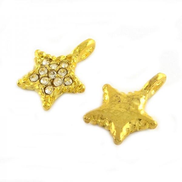 Stjerner guldbelagt 15 mm