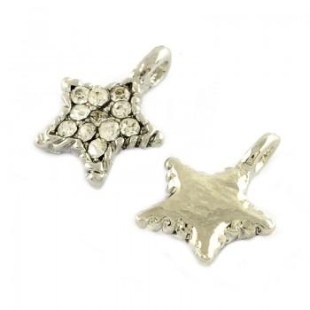 Stjerner sølvbelagt 15 mm