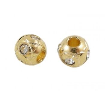 Perle med mønster og stene 8 / 3,5 mm