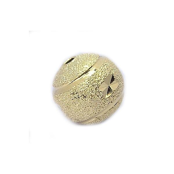 Guld perle med diamantskæring 8 mm - 3 stk