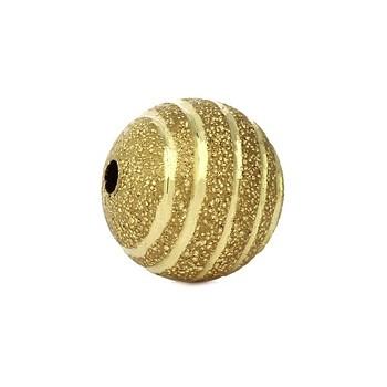 Guld perle med diamant skæring 8 mm - 3 stk