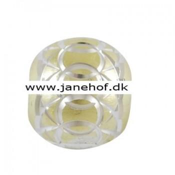 Diamant skåret perled turkis 11 / 5 mm