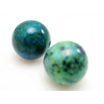 Chrysocolla sten 10 mm - 4 stk