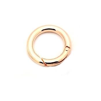Stor ring lås 24 mm - rosen guld