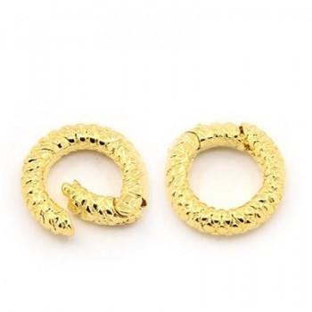 Stor ring lås 24 mm - guld