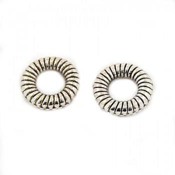 flot ring med mønster 9 mm /  10 stk