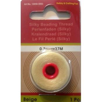 Silke perle tråd 37 mm - creme
