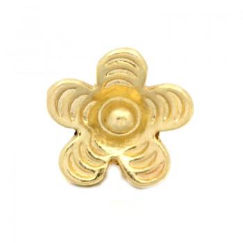 Ende Blomster perle 9,5 mm - 4 stk