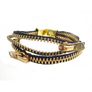 Lynlås armbånd guld eller sølv