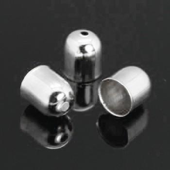 Enderør i sølv 7 / 5 mm -  6 stk