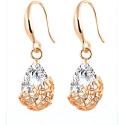 Smukke øreringe med zirkon og guld