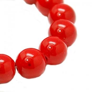 Jade rød 10 / 1 mm 8 stk