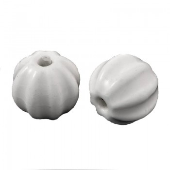 Porcelæns perle 13 x 12 / 2 mm - 2 stk