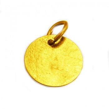 Tag med guld belægning 12 mm - 2STK