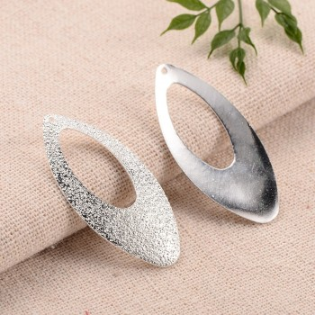 Smukke stardust sølv vedhæng 40 mm - 2 stk