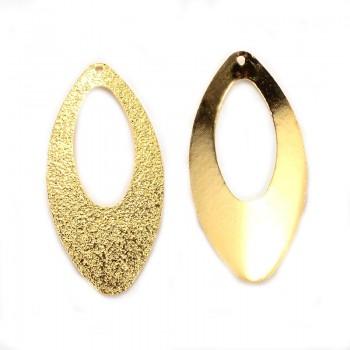 Smukke stardust guld vedhæng 40 mm - 2 stk