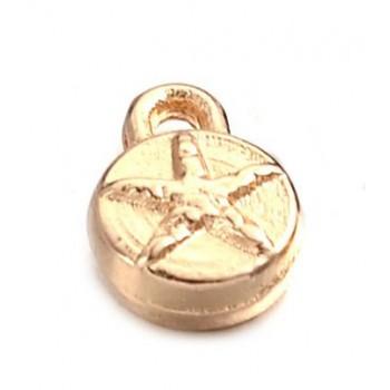 Vedhæng med stjerne rosenguld 6,5 mm - 2 stk