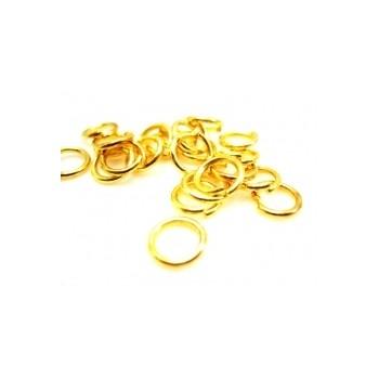 O-ring 10mm guld - 10 stk