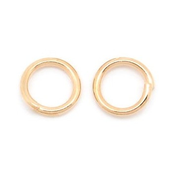 Rosenguld o-ring 6 mm - 30 stk