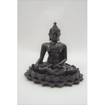 Buddha figur med plads til fyrfadslys
