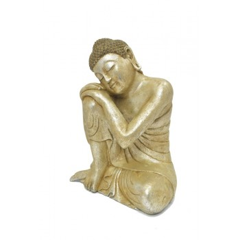 Relax buddha i sølv look