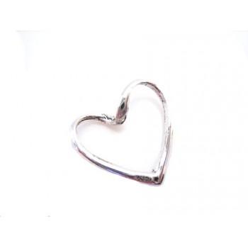 Sterling sølv hjerte 18 mm