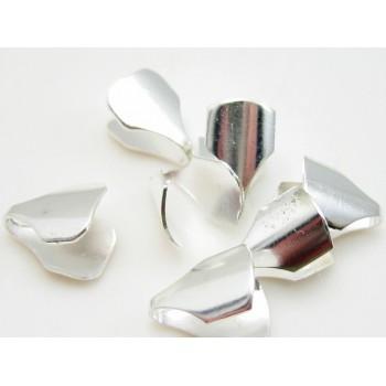 Enderør flad i sølv 5mm hul...