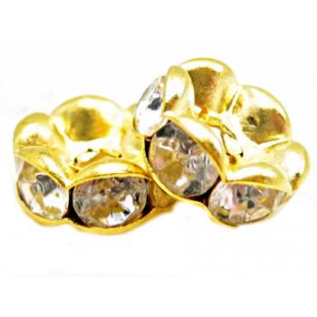 Guld rondel 8 mm - klare...