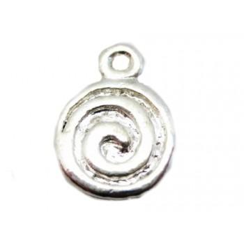 Sølv vedhæng 13 mm - 2 stk