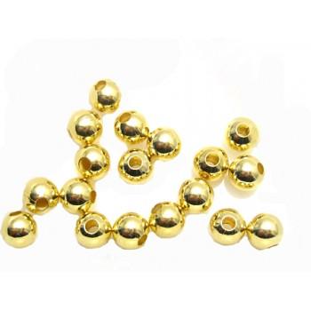 Blanke guld perler 6 / 2 mm...