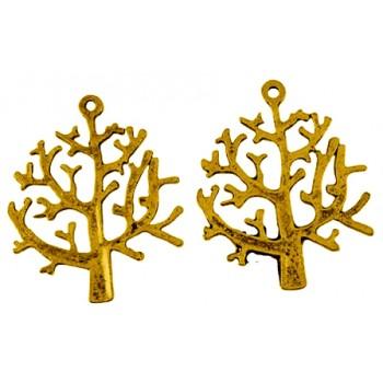 Træ antik guld 32 mm - 2...