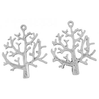 Træ antik sølv 32 mm - 2...