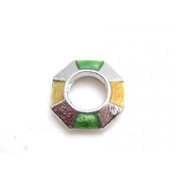 Stor perle med emalje grøn...