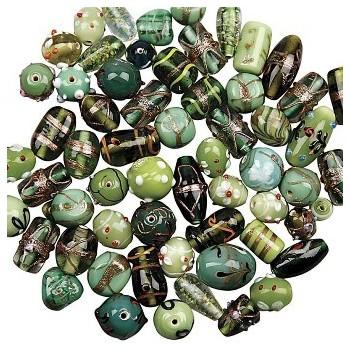 Luksus perle mix - Grøn -...