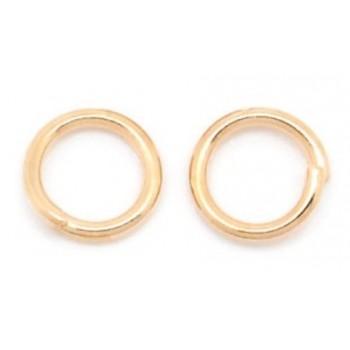 Rosenguld o-ring 6 mm - 20 stk