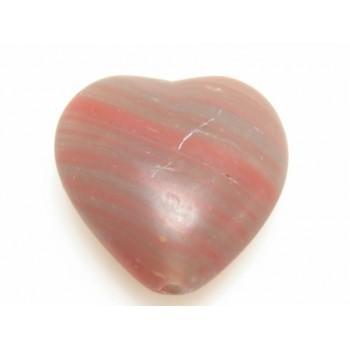 Glas hjerte rød - 2 stk